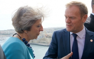 theresa may donald tusk