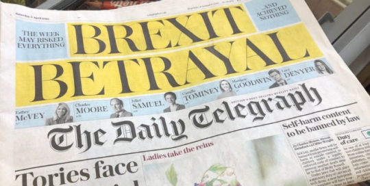 What do British newspaper readers think about Brexit?
