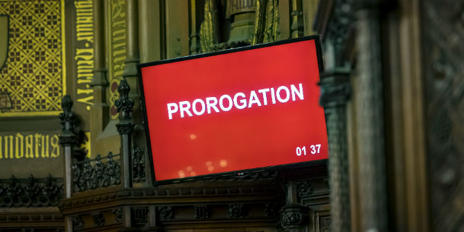 prorogation lords