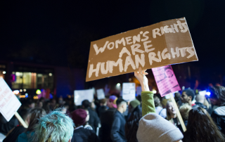Image of women's rights protest