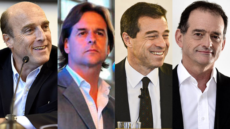 Uruguay 2019 election candidates Martinez, Lacalle Pou, Talvi, and Manini