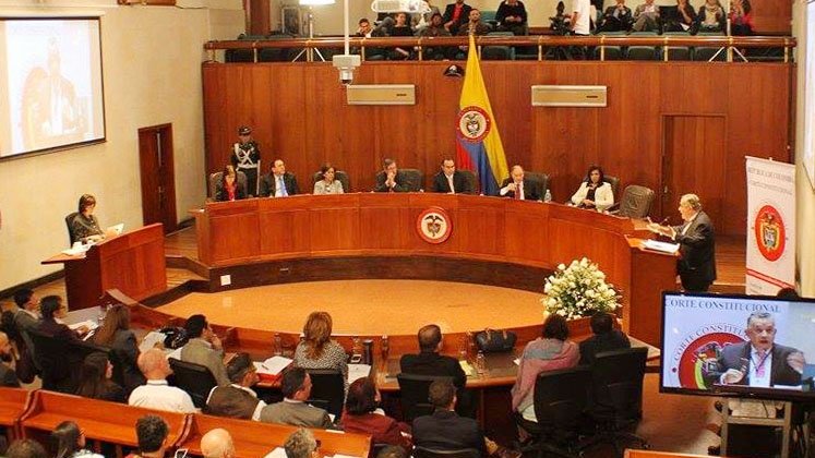 Colombia's Constitutional Court in session