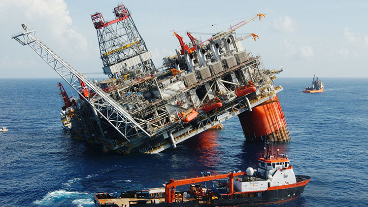 Thunder Horse oil platform, run jointly by ExxonMobil and BP, was found listing after Hurricane Dennis