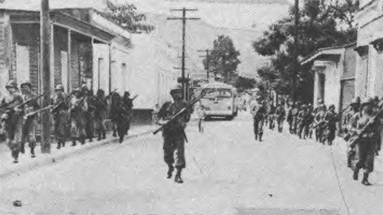The Puerto Rican National Guard occupies Jayuya following an uprising in 1950