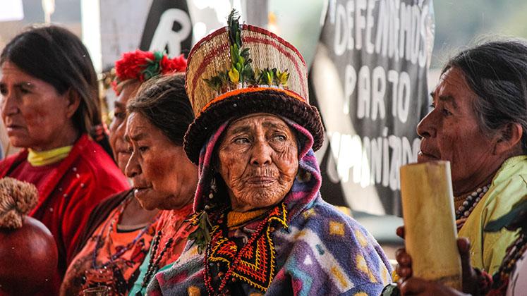 A Guarani-Kaiowá woman at Aty Guasu Assembly in Mato Grosso, Brazil