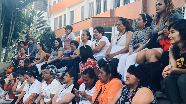 Domestic workers from all over Latin America take part in a leadership training programme in Sao Paulo, Brazil