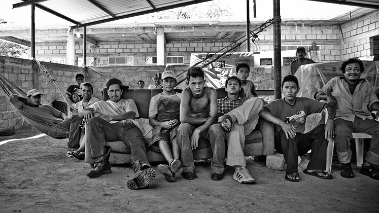 Transit migrants at a shelter in Ixtepec, Oaxaca, in southern Mexico