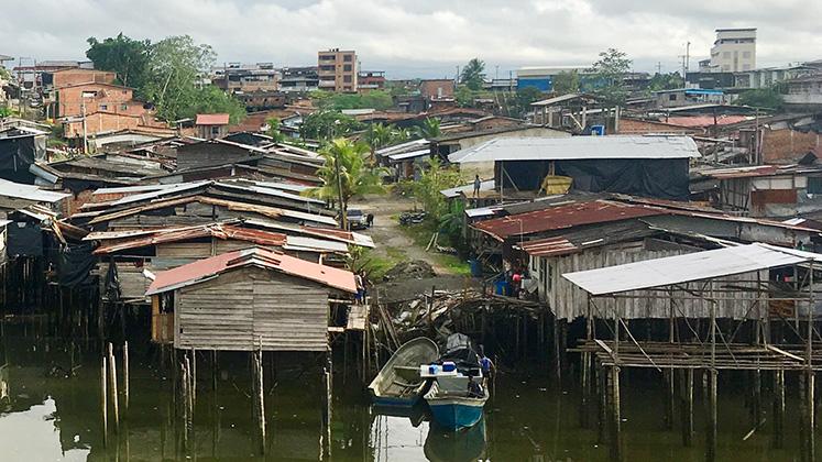 Stilt houses on the coast of Buenaventura, Colombia
