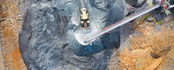Aerial Mine Photograph