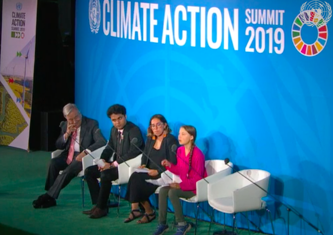 Panel at UN Climate Action Summit 2019