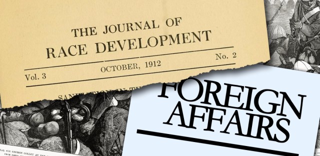 juxtaposition of the front covers of The Journal of Race Development and Foreign Affairs