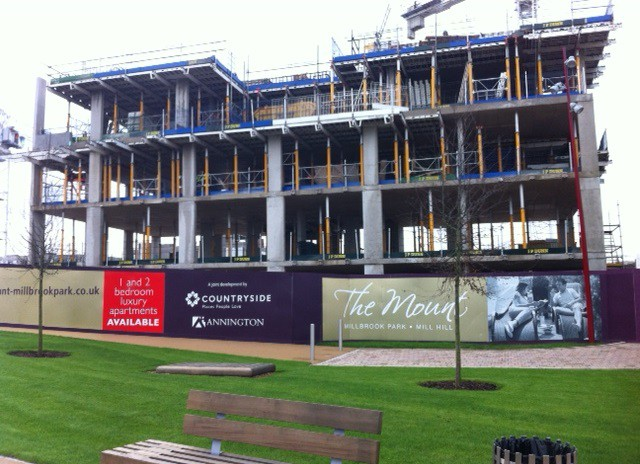 Construction is well underway at Millbrook Park, Barnet