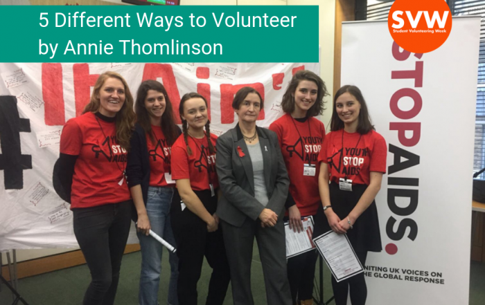 Guest Blog by Annie Thomlinson: 5 Different Ways to Volunteer