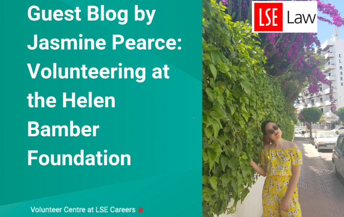 Guest Blog by Jasmine Pearce: Volunteering for the Helen Bamber Foundation