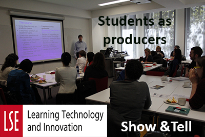 Show and tell on students creating and sharing content