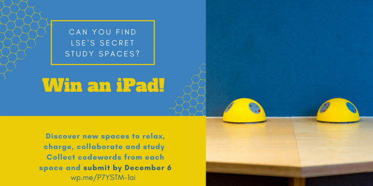 Secret spaces: Can you find LSE's new student study spaces?
