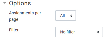 Options > Assignments per page select All