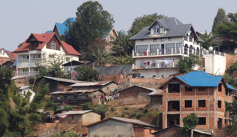 Mansions of the super-rich, outside Bukavu, DRC.