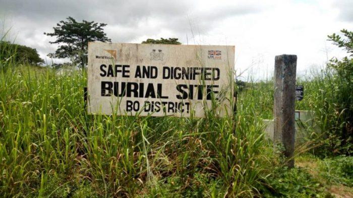Burial site in Bo District, Sierra Leone.