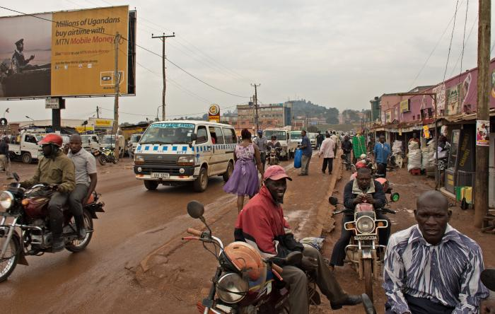 Bwaise's main commercial strip in Uganda