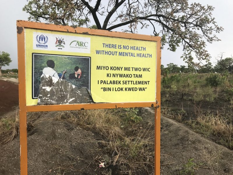 A sign about mental health in northern Uganda