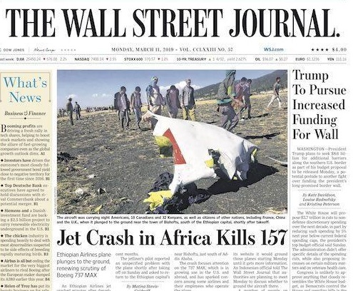 From Africanising the Crash to Ethiopianising the problem - The media representation of the ET302 crash is symptomatic of a wider problem