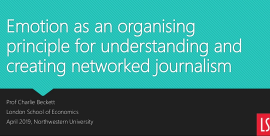 Emotion as an organising principle for networked journalism
