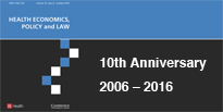 """Celebrating 10 years of """"Health Economics, Policy and Law"""""""
