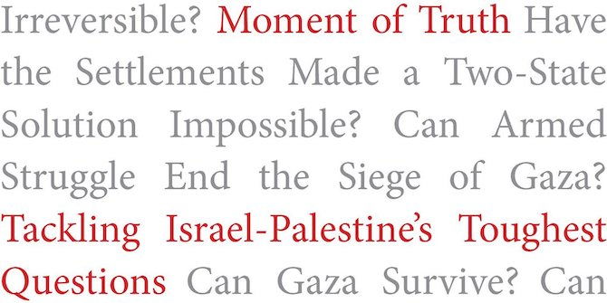 Book Review – 'Moment of Truth: Tackling Israel–Palestine's Toughest Questions' by Jamie Stern-Weiner