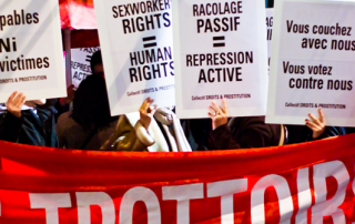 Placards at sex workers rights protest 2007