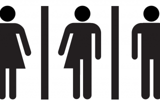 picture gender neutral restroom sign
