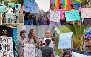 Photos of activists