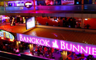 Picture of Bangkok with a sign reading Bangkok Bunnies