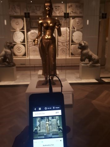 Photo of statue of Tara with audio guide