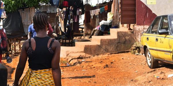 Photo of Dworzark informal settlement, Freetown, Sierra Leone