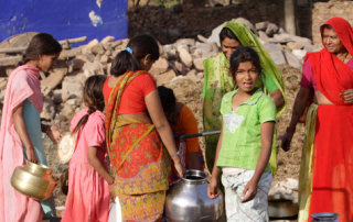 Women fetching water