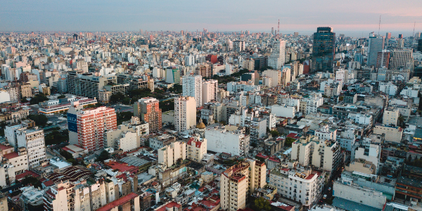 View of cityscape and skyline