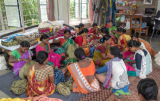 Image showing women working in textile production
