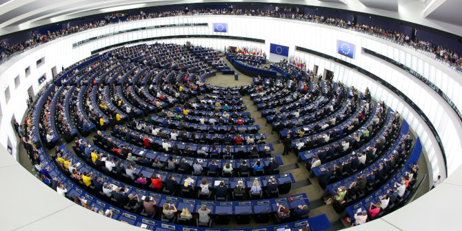 How movement between party groups has affected the balance of power in the European Parliament