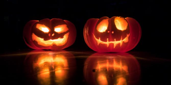 Photograph of Halloween pumpkins