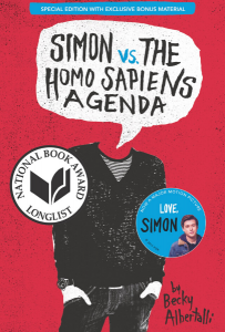 Book cover of Simon vs The Homo Sapiens Agenda by Becky Albertalli