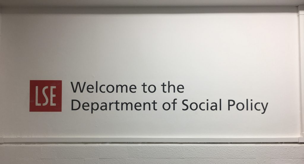 Welcome to the Department of Social Policy Sign