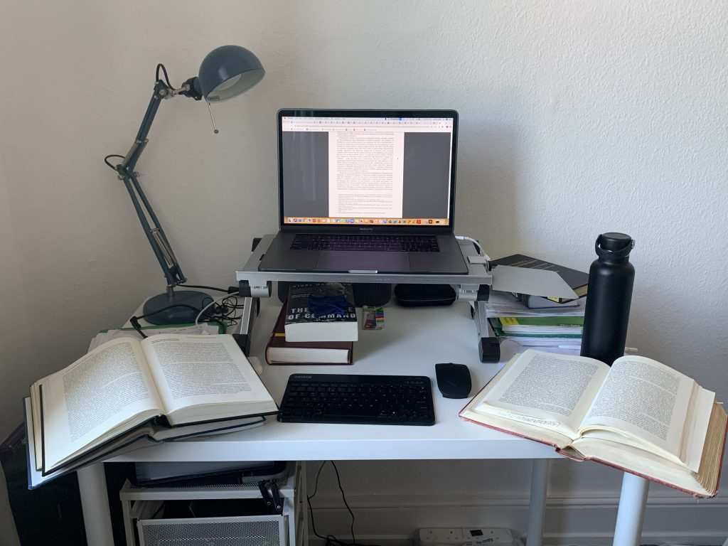 Desk and study space