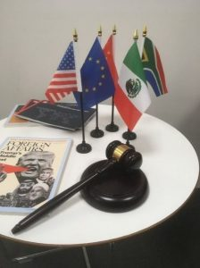 Gathering equipment for our WTO negotiations