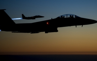 U.S. Air Force F-15E Strike Eagles over northern Iraq (Photo by Senior Airman Matthew Bruch, via Gonzalo Alonso: https://www.flickr.com/photos/134160831@N07/18393179544/)