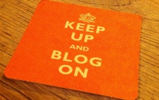 Keep Up and Blog On. Photo credit: Alexander Baxevanis, via Flickr (https://www.flickr.com/photos/futureshape/4977096245/). Licence: CC BY 2.0.