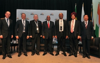 Members of the BRICS countries meet in Johannesburg