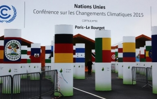 Entrance to the Paris 2015 UN Climate Change Conference