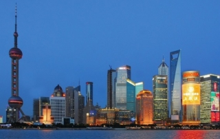 SShanghai skyline at night. Image copyright hbieser via Asia House