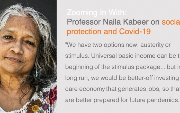 Zooming In With: Professor Naila Kabeer | Social protection and Covid-19